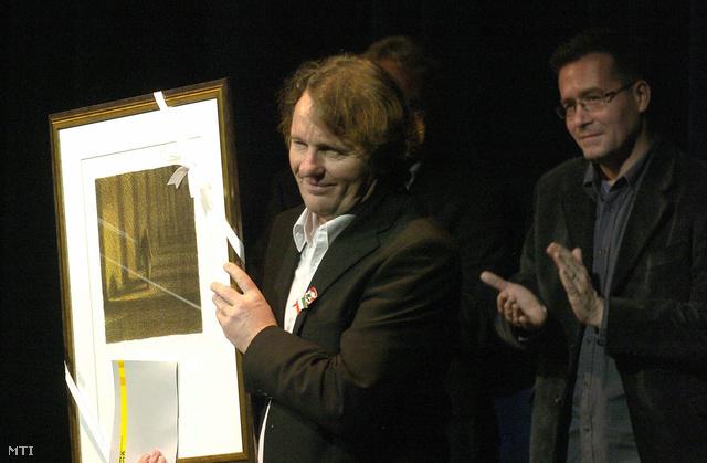 Szarvas József - az első Kaszás Attila-díj nyerteseként, 2008-ban