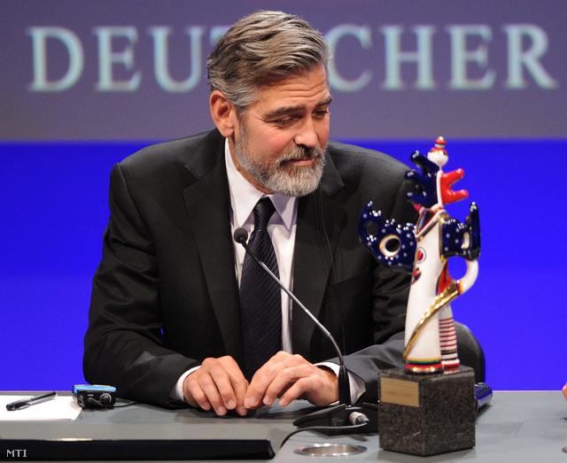 Clooney a Német Médiadíjjal
