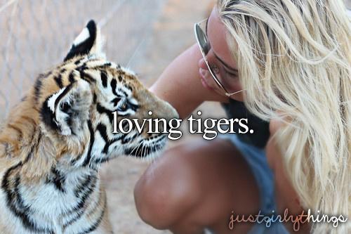 Imádja a tigriseket, cicákat, és az összes cuki, szőrös állatot