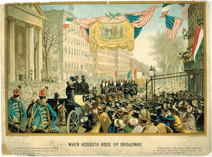 Kossuth Lajos ünnepélyes fogadása New Yorkban 1851. december 6-án