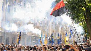 Szélsőséges párt aktivistái tüntettek az ukrán elnök lakásánál