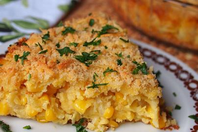 Krémes kukoricapite tészta nélkül: rengeteg sajt fogja össze
