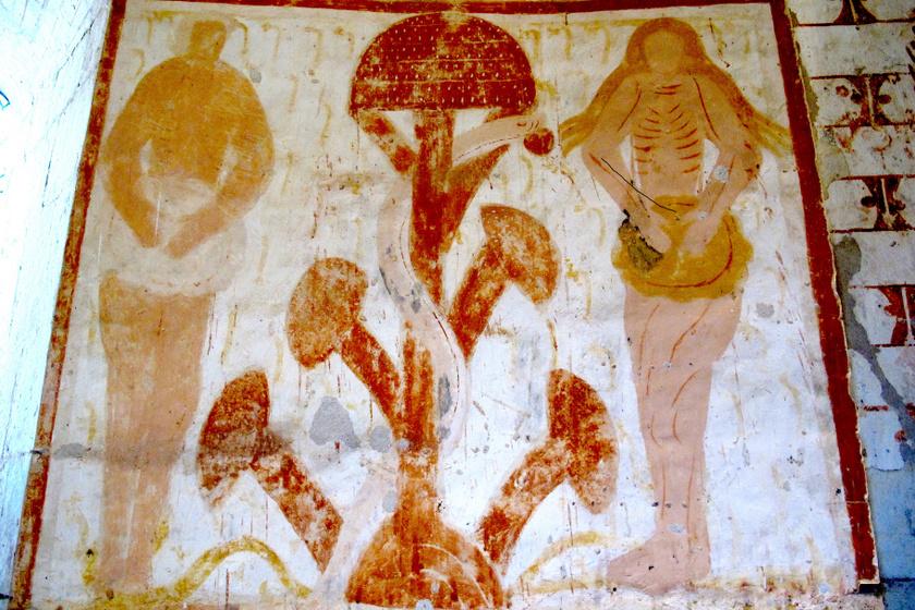 Plaincourault fresco, Garden of Eden