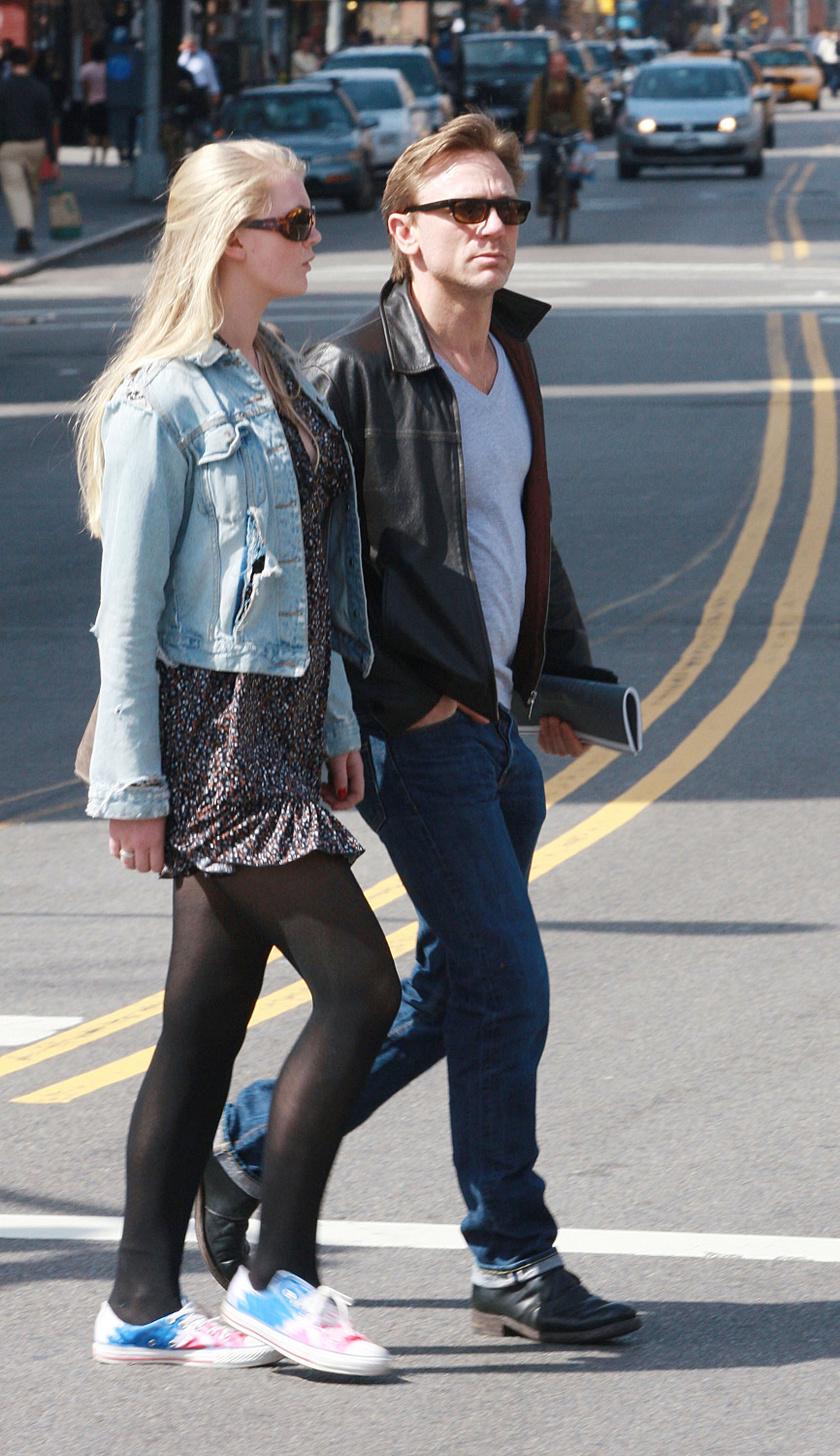 Daniel Craig és első házasságából született lánya, Ella 2010-ben.