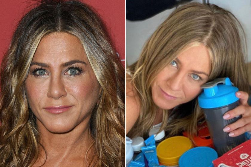 Jennifer Aniston kifestve és smink nélkül.