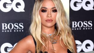 Rita Ora áttetsző ruhájánál már csak a dekoltázsa jobb, ezt kár lenne kihagyni