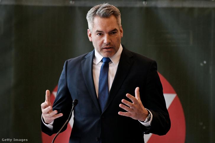 Karl Nehammer osztrák belügyminiszter