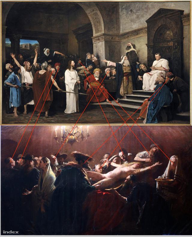 Párhuzamosságok a Krisztus Pilátus és a Vérvád közt