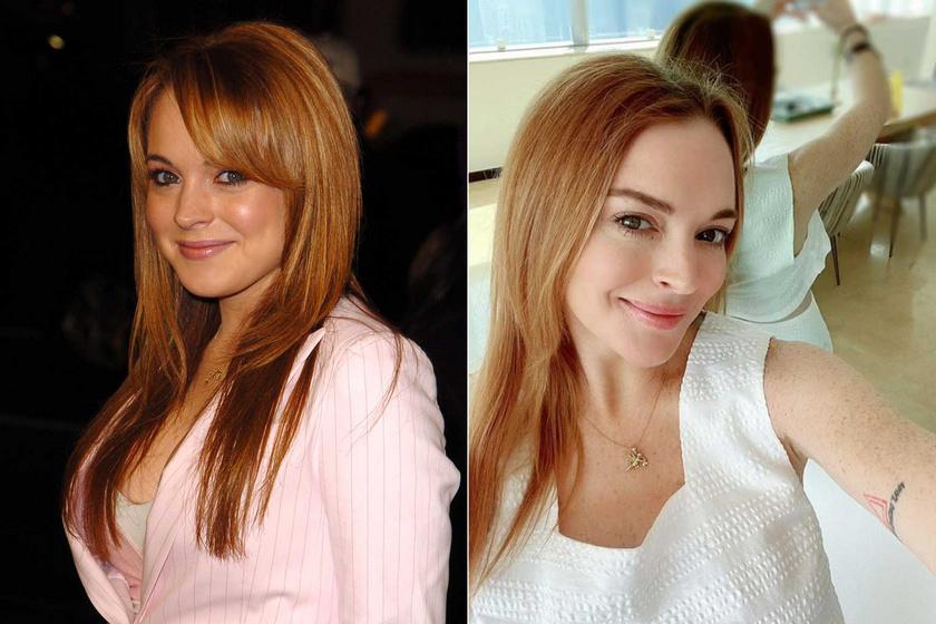 Lindsay Lohan 2003-ban a Tucatjával olcsóbb premierjén - és 2021 júliusában.