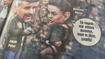 Címlapon prostizza Demeter Mártát a Ripost