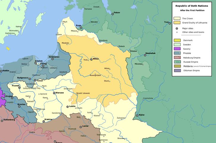 Az ország első felosztása 1772-ben