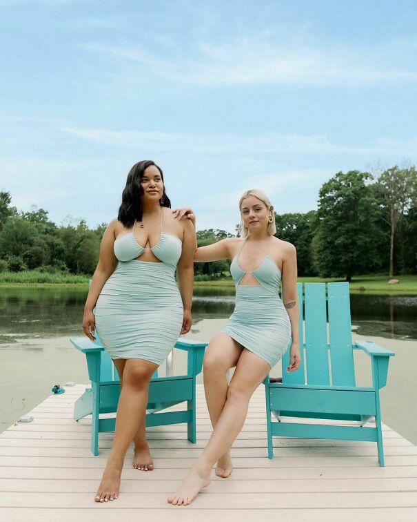 A páros elhatározta, megpróbálnak változtatni a divat íratlan szabályain, és megmutatják, hogy nem csak a vékony nőkön mutathatnak jól egyes ruhák. Például egy sikkes, nem túl rövid, szűk szoknya ugyanúgy dögös egy molett hölgyön is.