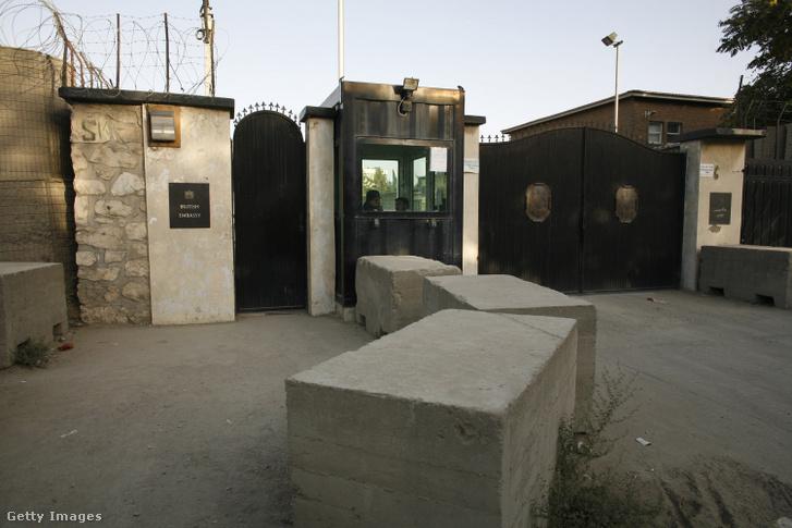 Nagy-Britannia kabuli nagykövetségének bejárata 2007. augusztus 17-én