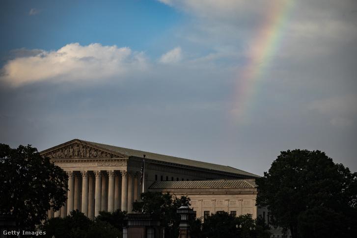 Az Egyesült Államok Legfelsőbb Bíróságának épülete Washingtonban 2007. augusztus 17-én