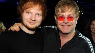 Elton John egy méretes márványpéniszt kapott Ed Sheerantól a születésnapjára
