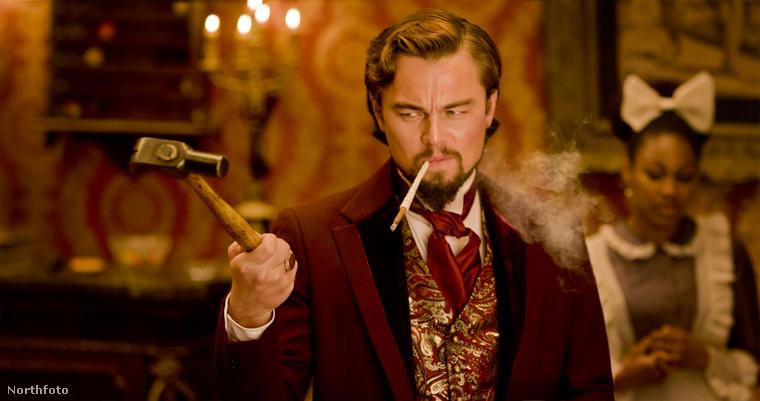 Leonardo DiCaprio a Django elszabadul (2012) forgatásán kétszer is megsérült