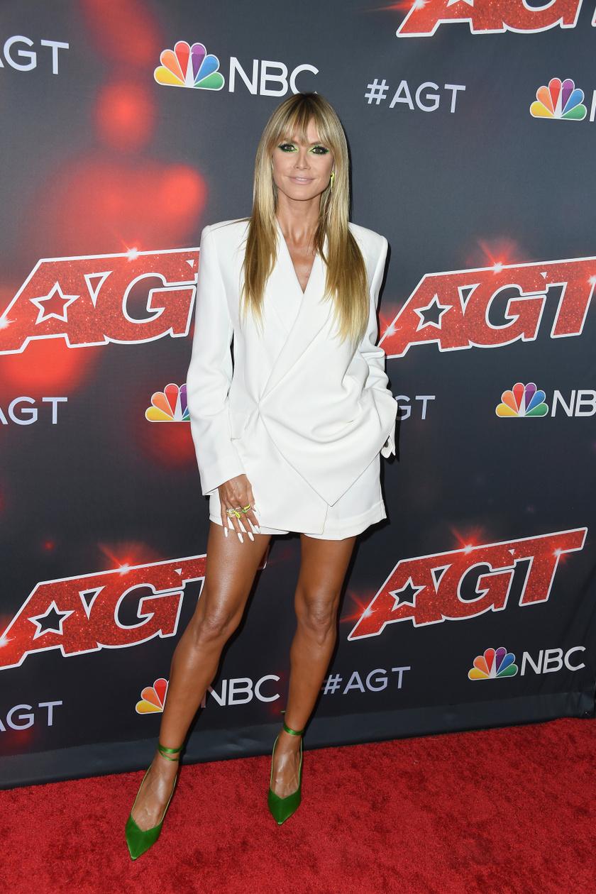 Heidi Klum augusztus 24-én az America's Got Talent 16. évadának forgatásán.