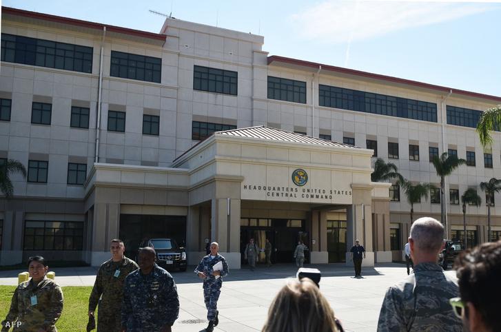 A Centcom parancsnoksága a MacDrill légibázison, a floridai Tampában, 2017 február 6-án