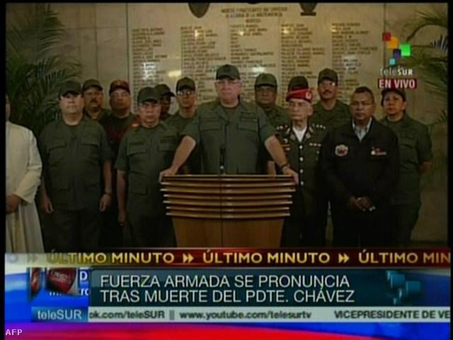 Diego Morelo védelmi miniszter sajtótájékoztatója a bejelentést követően