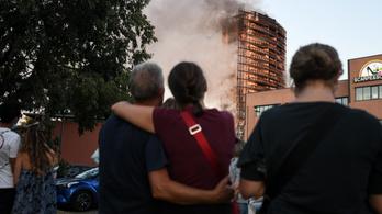 Kigyulladt egy 18 emeletes lakóház Milánóban, száz lakónak menekülnie kellett