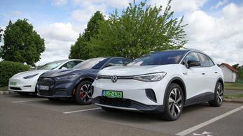 Összehasonlító: Tesla Model Y vs. Mustang Mach-E vs. VW ID.4