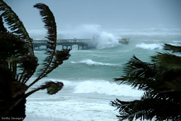 Irma hurrikán 2017. szeptember 10-én Floridában