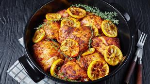 Különleges csirkeegytál datolyával és karamellizált citrommal
