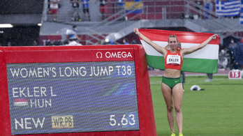 Ekler Luca világcsúccsal paralimpiai aranyérmes