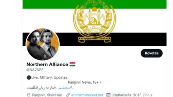 Magyar zászló a tálibellenes mozgalom neve mellett a Twitteren