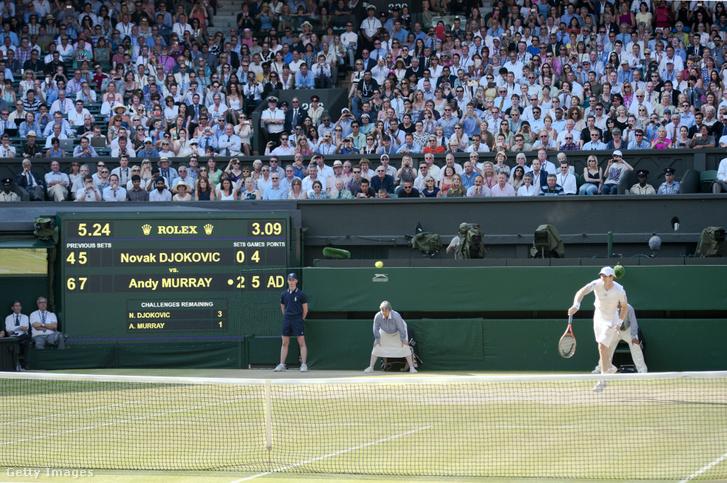 Andy Murray és Novak Djokovic mérkőzése 2013. július 7-én