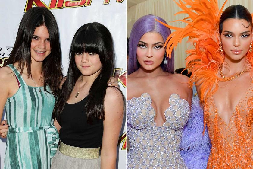 Kendall és Kylie Jenner 2009-ben kamaszként jelentek meg Kaliforniában egy nyilvános eseményen. Tíz évvel később a MET-gálán már teljesen más külsővel láthattuk őket.