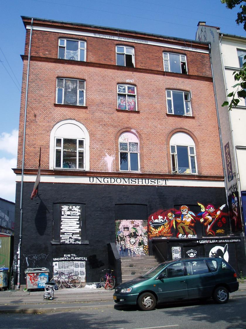 A koppenhágai Ungdomshuset épülete.