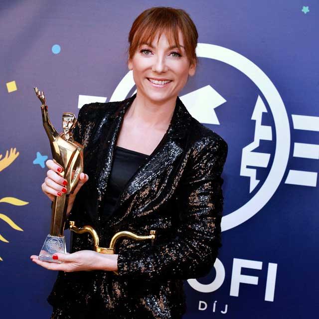 Rúzsa Magdi 2021 januárjában a Petőfi Zenei Díjak átadásán: ő lett az év női előadója.