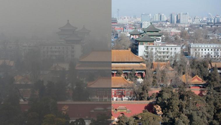 Egy kutatás szerint Kínában a légszennyezés évi 1 millió ember haláláért tehető felelőssé, 20 millió tonna rizst, búzát és szójababot tesz tönkre és 276 milliárd jüan kárt okoz az államnak.