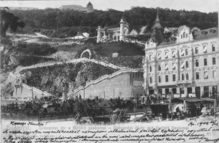 A Döbrentei tér és az 1940-ben lebontott Geist-bérpalota