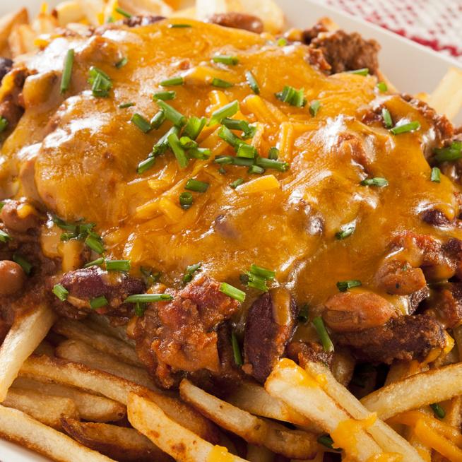 Pikáns darált hús rengeteg chilivel - Sült krumplival tartalmas egytálétel