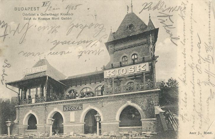 Az 1941-ben leégett Gellérthegyi Kioszk