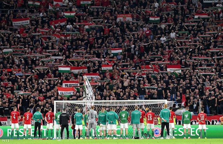 A meccs után is felcsendült a Himnusz