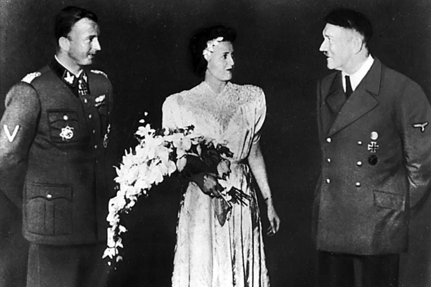 Fegelein, Gretl és Hitler.