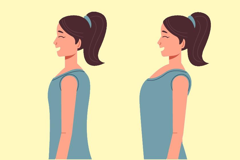 Képzeld el, hogy a fejed egy vízszintes felületen könnyedén előre-hátra tudod mozgatni. Az állad húzd hátra, de közben ne hajtsd hátra a fejed! Először, ha kell, az egyik kezeddel nyomj rá picit az álladra, mintha hátratolnád. Ez a videó segíthet a gyakorlat megértésében. A vállaid helyzetére is figyelj, maradjanak lent - ez a mindennapok során is fontos, a rövidülő izmok miatt gyakran feljebb vannak a fiziológiásnál.