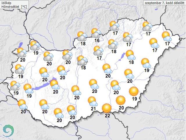Délelőtt várható maximumhőmérséklet