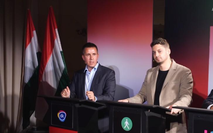 Ungár Péter és Czeglédy Csaba a Partizán által rendezett vitán 2021. szeptember 6-án