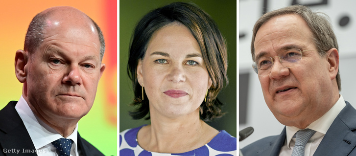 Olaf Scholz, Annalena Baerbock és Armin Laschet