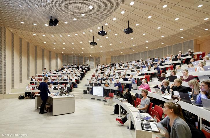Előadóterem egy dániai egyetemen 2015-ben