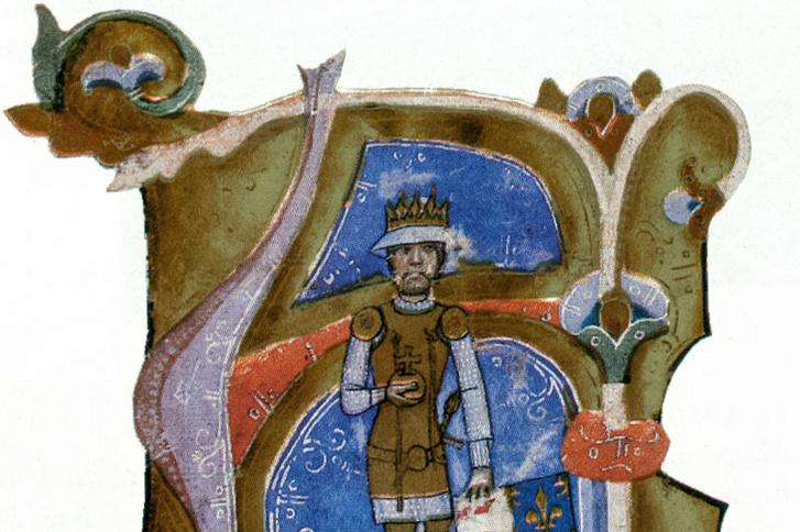 Károly Róbert alakja a Képes krónika egyik miniatúráján
