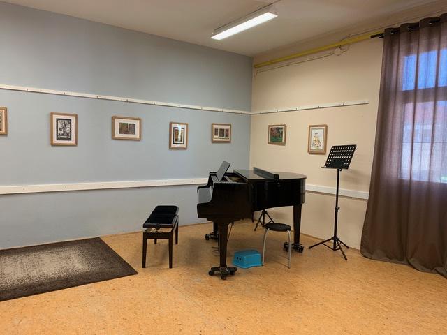 Csitáry zeneiskola egyik terme