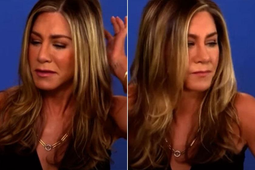 Jennifer Aniston testbeszéde elég árulkodó volt.
