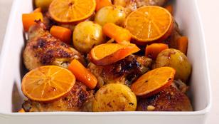 Csirke narancsos-mascarponés változatban