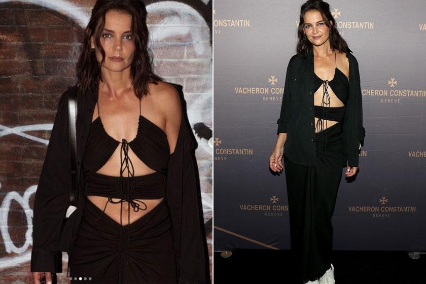 Katie Holmes Christopher Esber ruháját viselte a Vacheron Constantin üzletének megnyitóján.