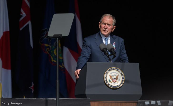 George W. Bush a shanksville-i megemlékezésen 2021 szeptember 11-én